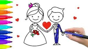 bride groom coloring videos children