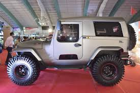 jeep open roof mahindra thar daybreak edition with solid roof showcased at surat