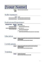 a resume format for a word resume template free resume templates for microsoft