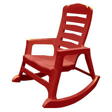 Stackable Resin Patio Chairs by Adams Manufacturing Resin Patio Big Easy Rocking Chair Cherry