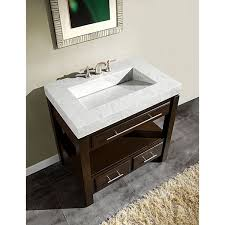 12 Inch Deep Vanity Silkroad Exclusive 36 Inch Carrara White Marble Stone Top Bathroom