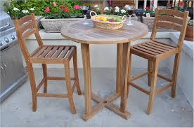 drink table bar furniture awesome slatted teak bar table design with stool chairs