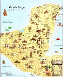 mayan empire map the mundo map history