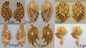 design of gold earrings ear tops gold ear studs ear tops gold design with weight