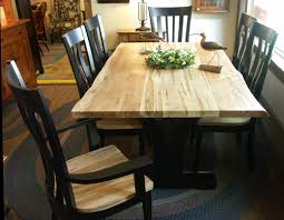 Maple Dining Room Table And Chairs Live Edge Wormy Maple Table And Chairs Gallery Augusta