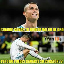Memes De Cristiano Ronaldo - los mejores memes cristiano ronaldo balón de oro 2017