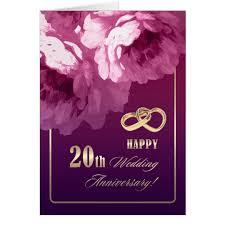20th wedding anniversary 20th wedding anniversary greeting cards zazzle