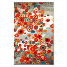 Multi Colored Shag Rug Mohawk Home Tossed Floral Multi Colored Rectangular 5 Ft X 8 Ft