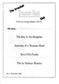Armchair Treasure Hunts The Armchair Treasure Hunt Club Newsletters 1992 Alley Cat Themes