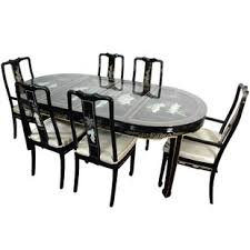 black lacquer dining room chairs black lacquer dining room set wayfair