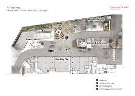 Airport Floor Plan Design by Lounge 2 Schiphol Kossmann Dejong