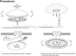 how to install flush mount light ceiling l installation instructions www lightneasy net