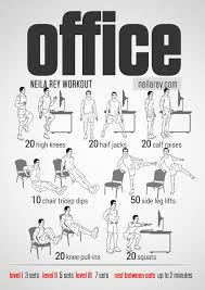 Office Workouts At Desk Visual Workout Guides For Bodyweight No Equipment