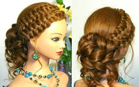 hairstyles to do on manikin prom updo hairstyle for long hair with braids tutorial youtube