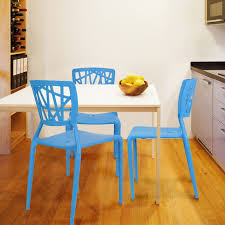 joveco modern contemporary dining room chairs set of two blue