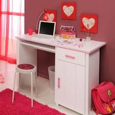 bureau blanc et pour chambre fille l 121 x h 77 x p 65 cm