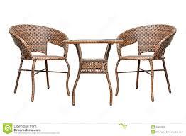 rattan coffee table set royalty free stock image image 34487826