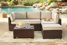 loughran 4 piece outdoor sectional set outdoor seating furniture