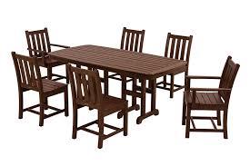 Patio Furniture Dining Set - amazon com polywood pws133 1 ma traditional garden 7 piece