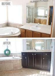 Repainting Bathroom Cabinets Bathroom Cabinets Stain Oak Cabinets Refinishing Bathroom