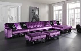 Purple Table L L Shaped Purple Leather Sofa And Ottoman Coffee Table With Black