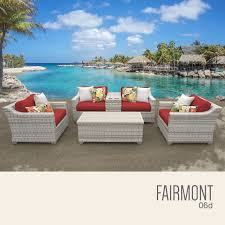 Patio Set 6 Chairs by Tk Classics Fairmont 6 Piece Outdoor Wicker Patio Furniture Set 06d
