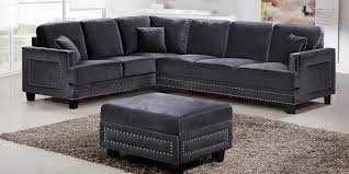 Gray Nailhead Sofa Nailhead Sectional Sofa Latest Design 2018 2019 Sofakoe Info
