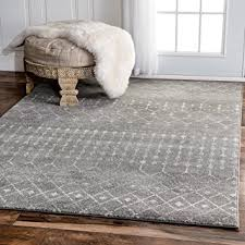 Grey Area Rug Traditional Vintage Moroccan Trellis Grey Area