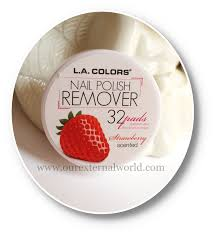 l a colors nail polish remover pads review