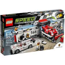 lego speed champions ferrari lego speed champions porsche 919 hybrid and 917k pit lane 75876
