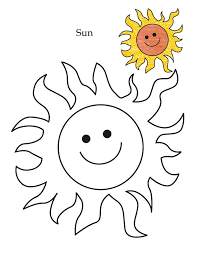 tracing sheet of sun coloring pages for kids coloring point
