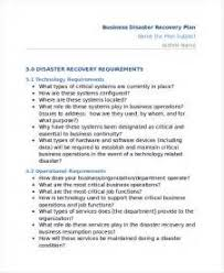free disaster recovery and business continuity plan template