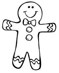 gingerbread man black and white clipart u2013 gclipart com