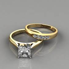 wedding band sets princess cut engagement ring and wedding band set puregemsjewels
