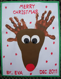 handprint reindeer christmas pinterest footprints craft and