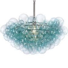 turquoise chandelier andrew design bubbles chandelier candelabra inc