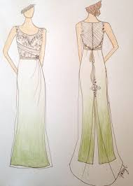 buy custom made pale green ombre wedding dress made to order from