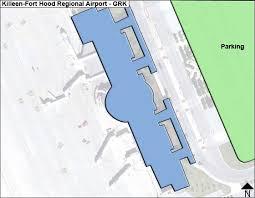 killeen map killeen fort regional grk airport terminal map