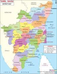 South India Map by Tamilnadu Map Tamilnadu Districts