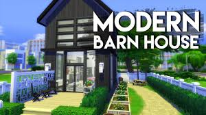 modern barn the sims 4 house build modern barn house no cc youtube