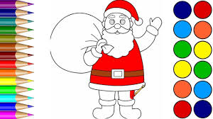 santa claus coloring pages learn color video children