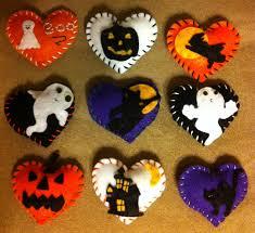 halloween felt hearts decorations pin cushions gifts etc