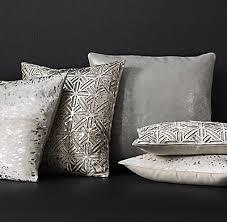 Cowhide Pillows Metallic Cowhide Pillow Cover