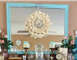 Shabby Chic Large Mirror by Large Shabby Chic Turquoise Mirror Distressed Beach Decor