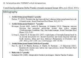 daftar pustaka merupakan format dari p3hh