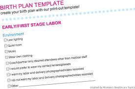 birth plan birth plan template word template design birth plans