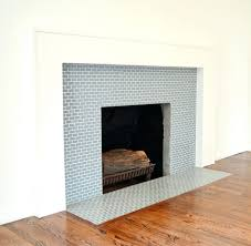 fireplace tile surround designs subway tiled ideas stone kit paint