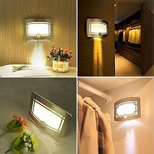 Wireless Bathroom Light Led Silver Wall Lights Wireless Stick Anywhere Battery Powered
