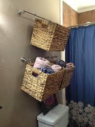 bathroom hanging baskets bañou pinterest bathroom storage