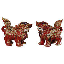 choo foo dogs home decor improvements 34073 2 choo foo dogs set of 2 ebay